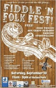 6th Annual Fiddle n Folk Festival @ Haines Memorial State Park