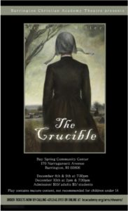 The Crucible - A Barrington Christian Academy Production @ Bay Spring Community Center | Barrington | Rhode Island | United States
