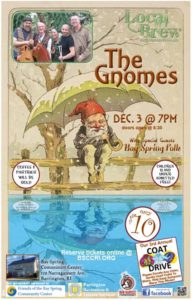 The Gnomes, Local Brew, Bay Spring Community Center, December 3, 2016