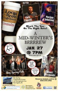 Local Brew Coffeehouse: Mid-winter's Brrrrew @ Bay Spring Community Center | Barrington | Rhode Island | United States