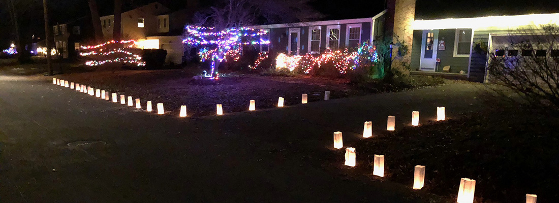 Hundred of Homes Lit Up the Night on the Winter Solstice