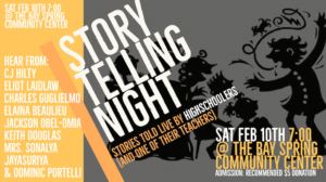 A Night of Student Storytelling @ Bay Spring Community Center