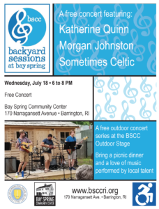 The Backyard Sessions at Bay Spring @ Bay Spring Community Center | Barrington | Rhode Island | United States