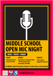 Middle School Open Mic Night @ Bay Spring Community Center