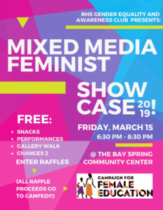 2019 Mixed Media Feminist Showcase @ Bay Spring Community Center