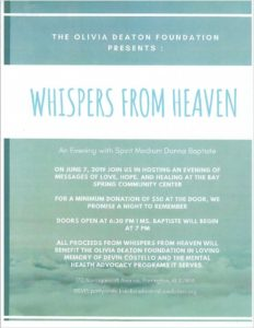Whispers from Heaven @ The Bay Spring Community Center
