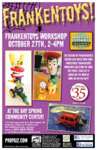 Artist-in-Residence - Professor Gizmo's Workshop - FRANKENTOYS! Workshop @ Bay Spring Community Center