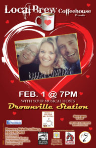 Local Brew Coffeehouse with Ragged Company and Your Musical Hosts, Drownville Station @ Bay Spring Community Center