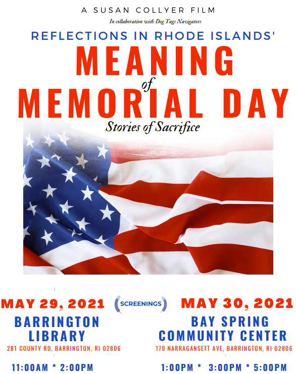The Meaning of Memorial Day: Stories of Sacrifice -- Video Premiere @ Barrington Public Library